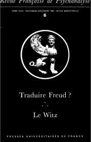 Traduire Freud ? - Singularité d'une écriture